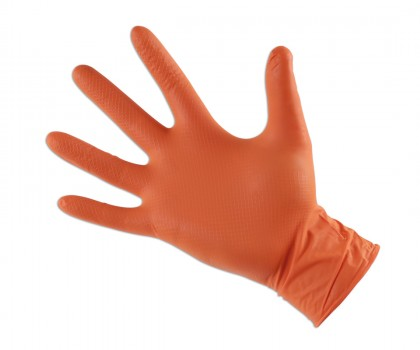 Large Orange Nitrile Gloves (50)
